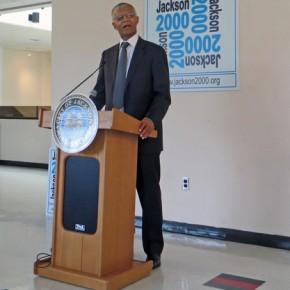 man podium